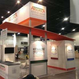 Absorica 20x20 Custom Trade Show Booth