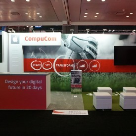 CompuCom 10x20 Custom Trade Show Booth