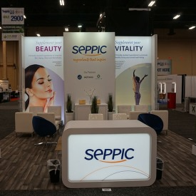 SEPPIC 20x20 Custom Trade Show Booth