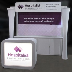 Hospitalist Consultants 10x10 Custom Trade Show Booth
