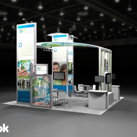SIS 20x20 Custom Trade Show Booth