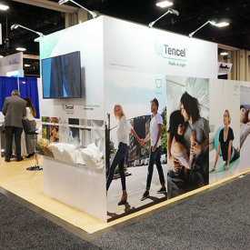 Tencel 20x20 Custom Trade Show Booth