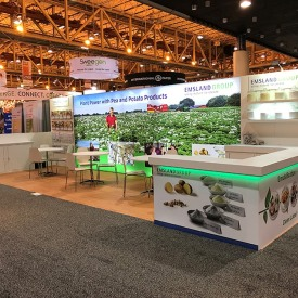 Emsland Group 10x30 Custom Trade Show Booth