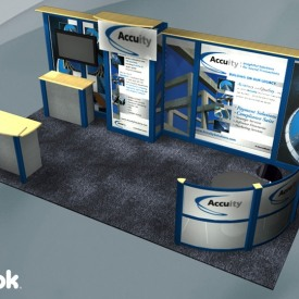 Accuity 10x20 Custom Trade Show Booth