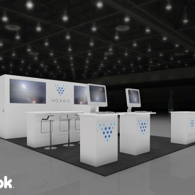 Voxeo 20x20 Custom Trade Show Booth
