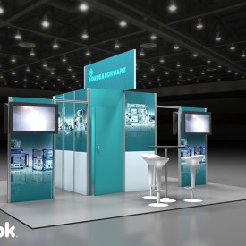 Rohde Schwarz 20x20 Custom Trade Show Booth