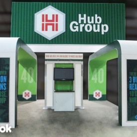 Hub Group 20x20 Custom Trade Show Booth