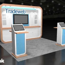 Tradeweb 10x10 Custom Trade Show Booth