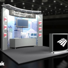 Bank of America GCM 10x10 Custom Trade Show Booth