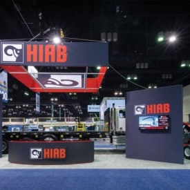 HIAB Larger Custom Trade Show Booth