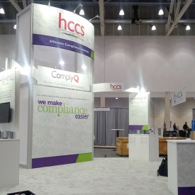 HealthStream 20x20 Custom Trade Show Booth
