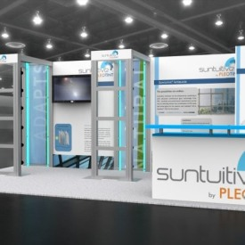Suntuitive 10x20 Custom Trade Show Booth