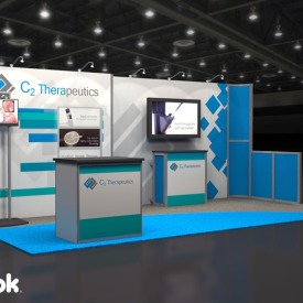 C2 Therapeutics 10x20 Custom Trade Show Booth