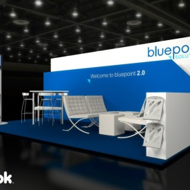 Bluepoint 10x20 Custom Trade Show Booth