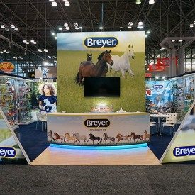 Breyer Larger Custom Trade Show Booth