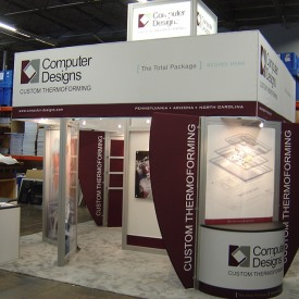 Computer Designs 20x20 Custom Trade Show Booth