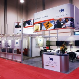 Centrix Financial Larger Custom Trade Show Booth