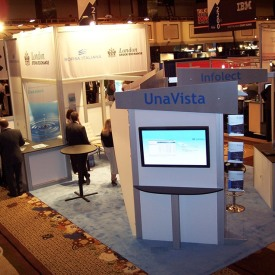 UnaVista Larger Custom Trade Show Booth