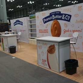 Peanut Butter 10x20 Custom Trade Show Booth