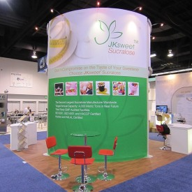 JK Sucralose Inc. 20x20 Custom Trade Show Booth