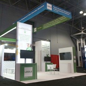 Logile 20x20 Custom Trade Show Booth