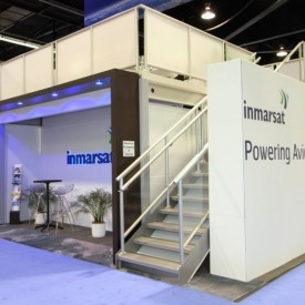 Inmarsat 20x20 Custom Trade Show Booth