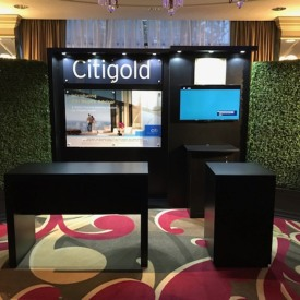 Citigold 10x10 Custom Trade Show Booth
