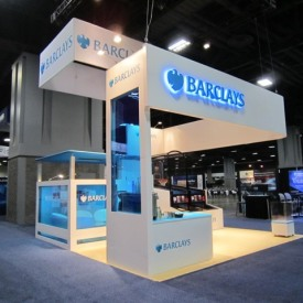 Barclay's Larger Custom Trade Show Booth