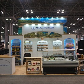 Mediterranean Pita 20x20 Custom Trade Show Booth