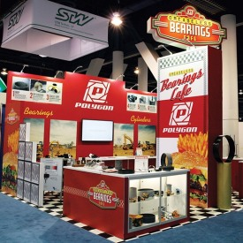 Polygon 20x20 Custom Trade Show Booth