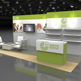 Goethe Institut 10x20 Custom Trade Show Booth