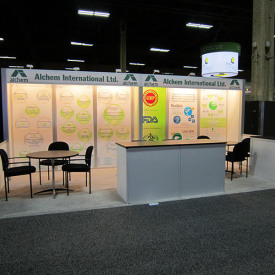 Alchem International, Ltd. 10x20 Custom Trade Show Booth