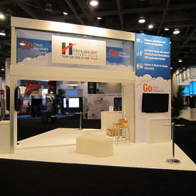 Hexaware 20x20 Custom Trade Show Booth