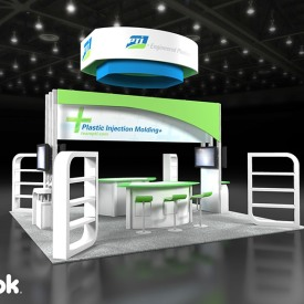 PTI 20x20 Custom Trade Show Booth