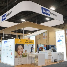 Suan Farma 20x20 Custom Trade Show Booth