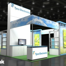 Tyco Electronics 20x20 Custom Trade Show Booth