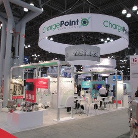 Chargepoint Larger Custom Trade Show Booth