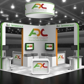 ADC 20x20 Custom Trade Show Booth