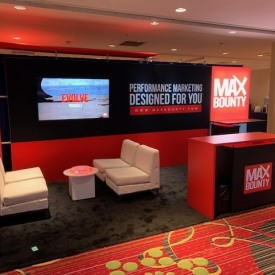 Max Bounty 10x20 Custom Trade Show Booth