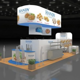 Handy Larger Custom Trade Show Booth