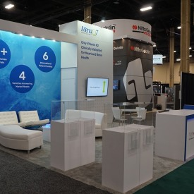Natto Pharma 20x20 Custom Trade Show Booth
