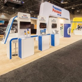 Purolater Larger Custom Trade Show Booth