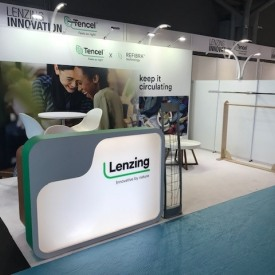 Lenzing 10x15 Custom Trade Show Booth