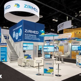 ZirMed Larger Custom Trade Show Booth