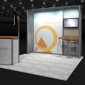 Reeher 10x10 Custom Trade Show Booth