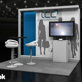 TCC 10x10 Custom Trade Show Booth