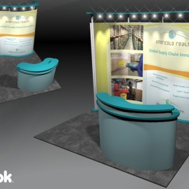Americold Realty 10x10 Custom Trade Show Booth