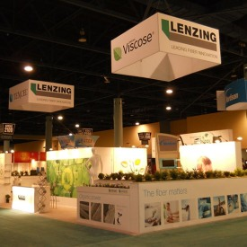 Lenzing Larger Custom Trade Show Booth