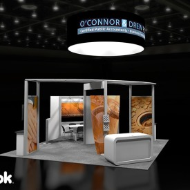 O'Connor and Drew 20x20 Custom Trade Show Booth